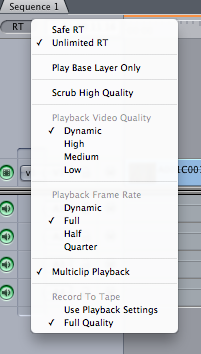 Real-time performance of filters in Final Cut Pro 7