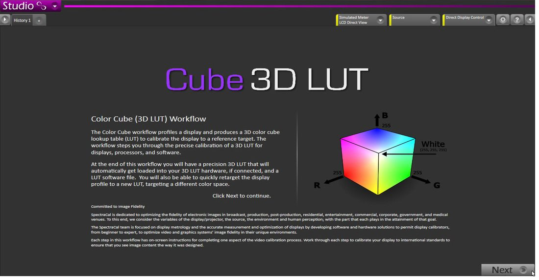 Using Corrective 3D LUTs from SpectraCal CalMAN | Pomfort
