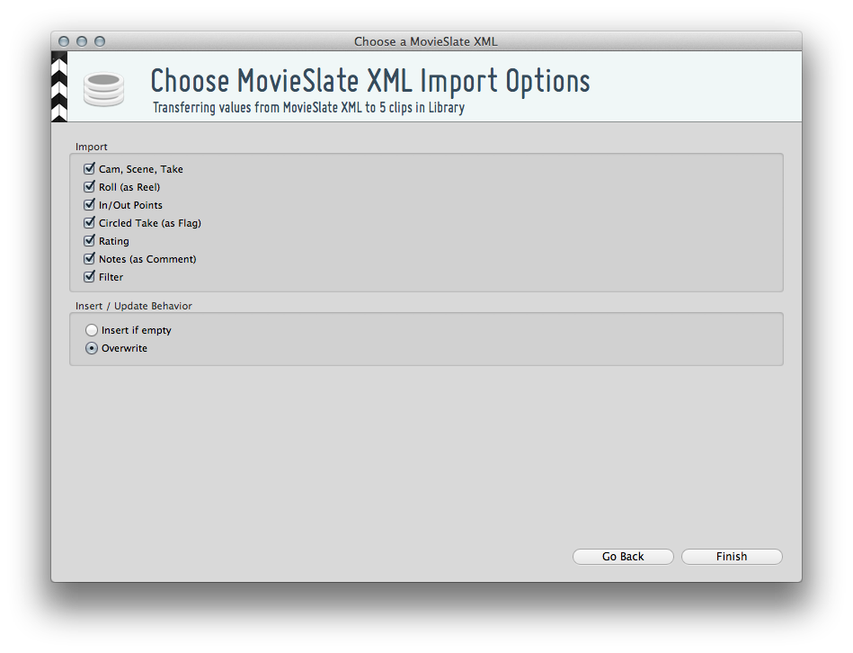 "Figure 3: ""Choose Metadata kind and insert options"""