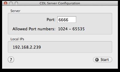figure 3: CDL server configuration