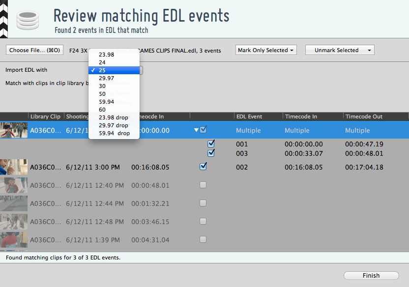 """Figure 4: """"Import wizard for EDLs in Silverstack"""""""