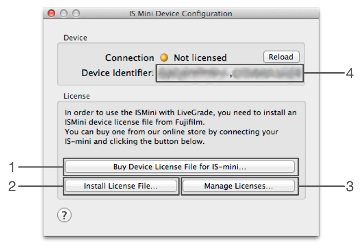 figure 2: IS-mini device licensing