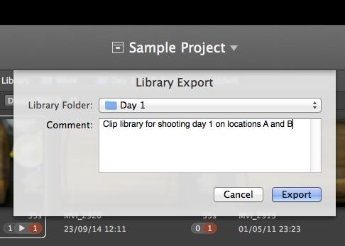 figure 4: library export wizard