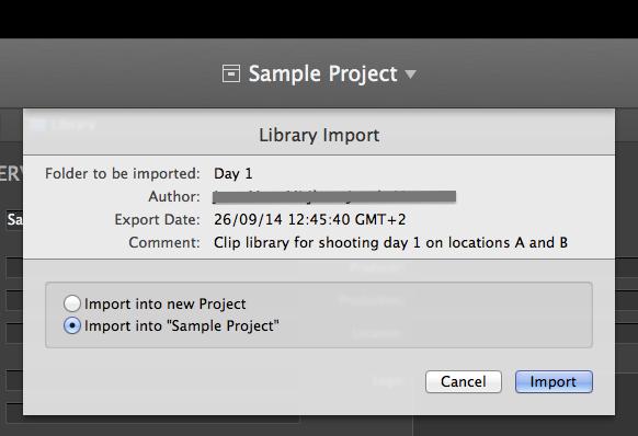 figure : metadata import wizard