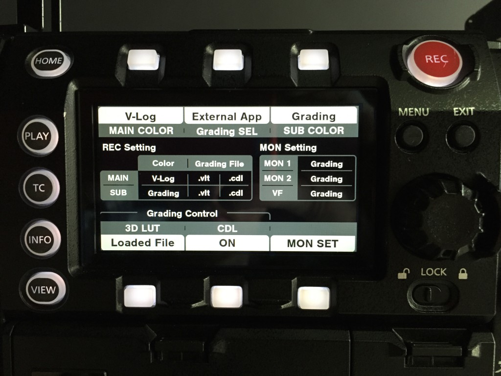 figure 3: Advanced LUT modes on the Varicam 35