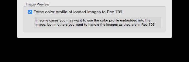 figure 4: Fore Color Profile preferences