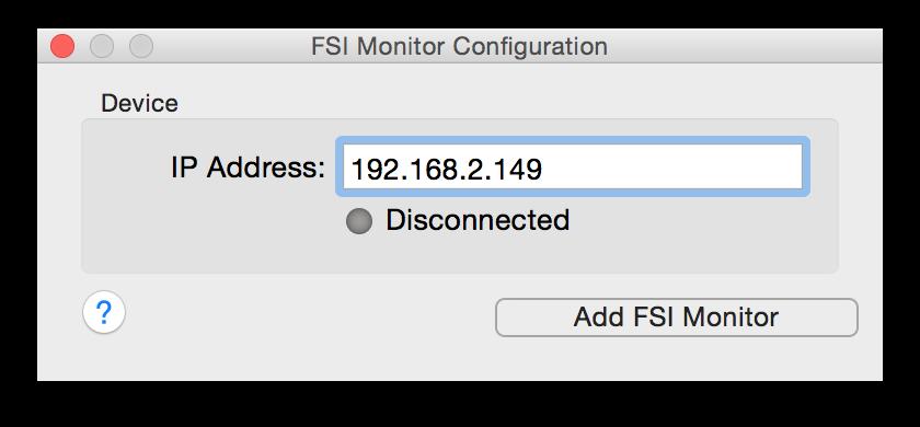 figure 3: entering the IP address