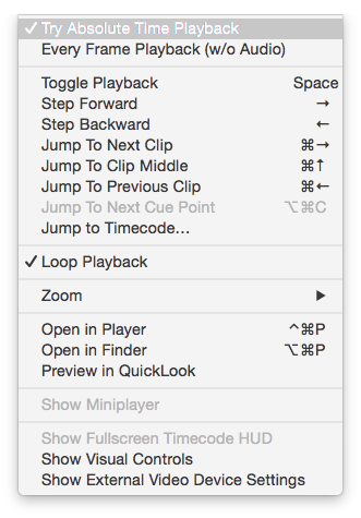 figure 3: Select playback mode from the main menu