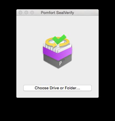 Fig. : The Pomfort SealVerify start screen.