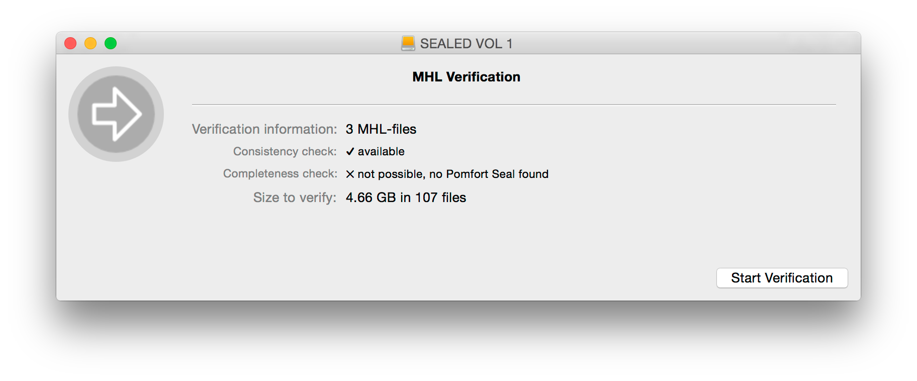 Fig. 10: MHL files found and ready for verification