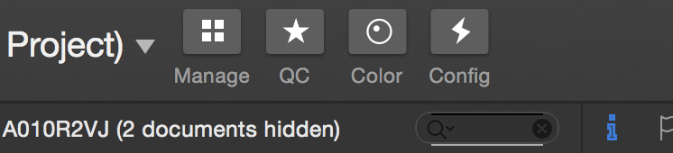 Fig. 1: The UI Layout shortcut buttons in the toolbar