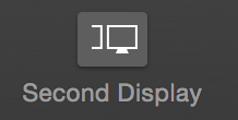 "Fig. 1: The ""Second Display"" button in the toolbar"
