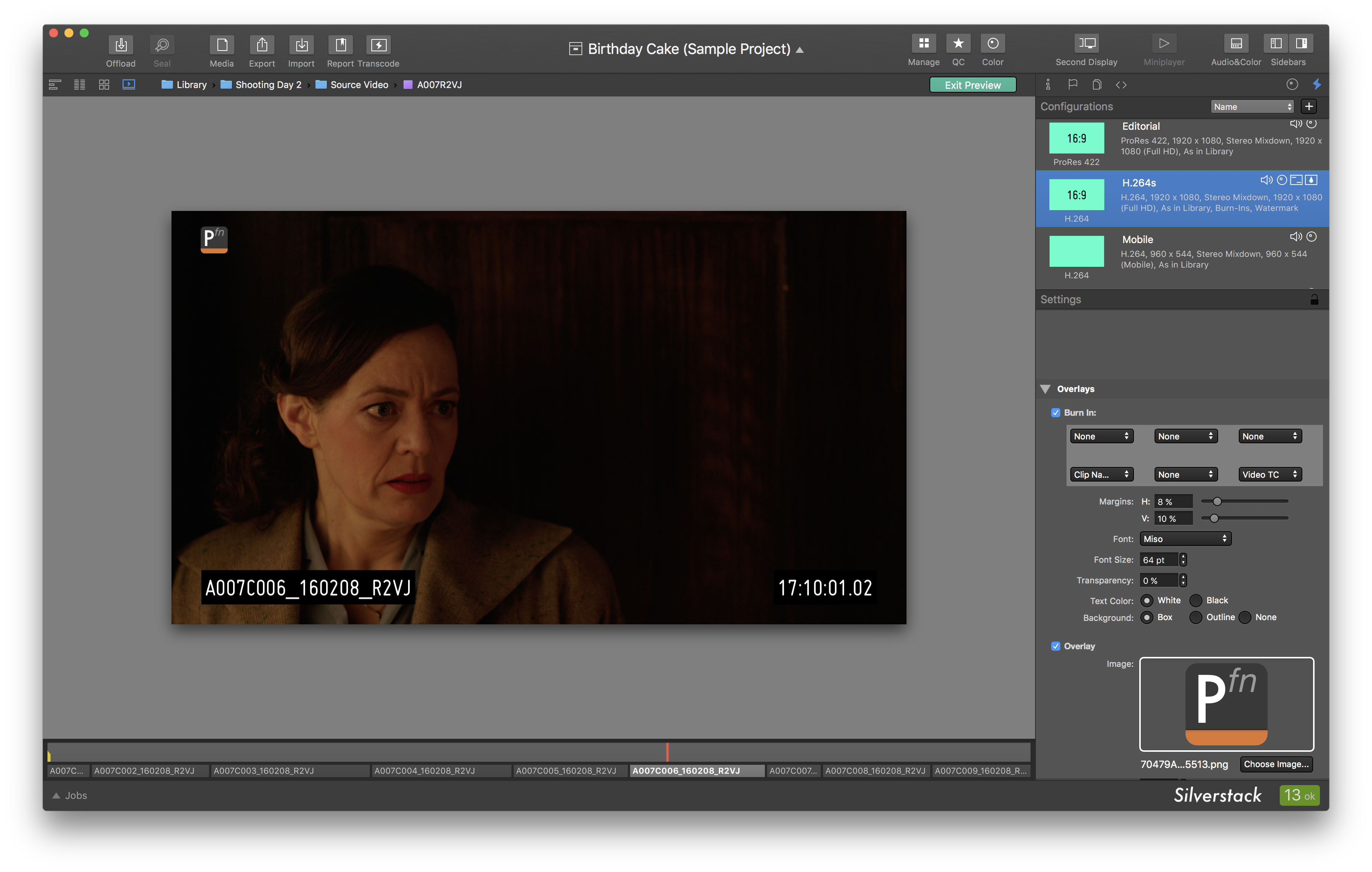 Fig. 6: The transcoding preview