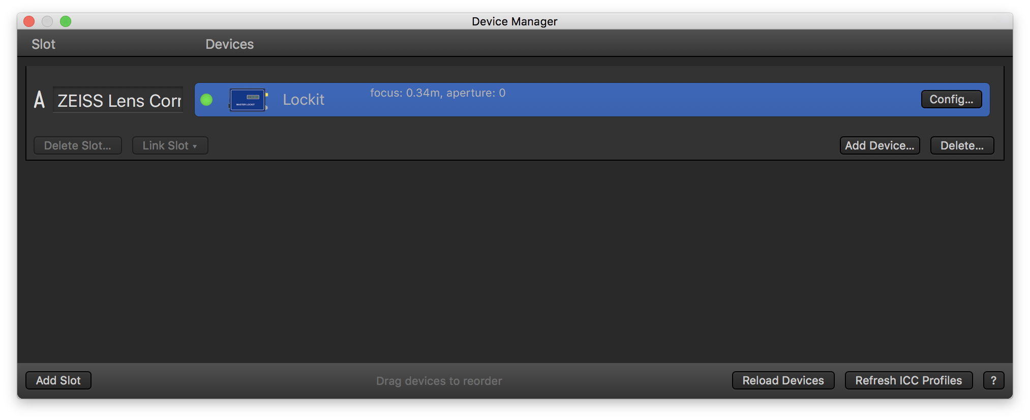 Fig. 2: The device manager with the added MasterLockit Plus