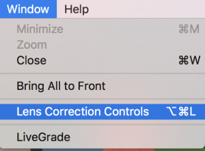 Fig.5: Open the Lens Correction Controls