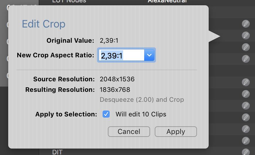 Fig. 3: Multi edit for crop