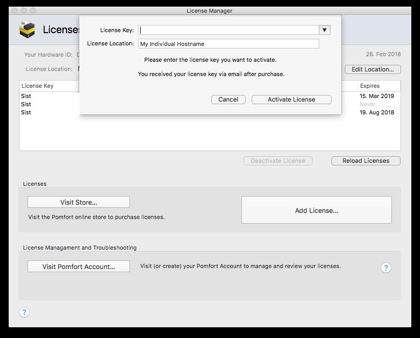 Pomfort Account: Online License Management | Pomfort