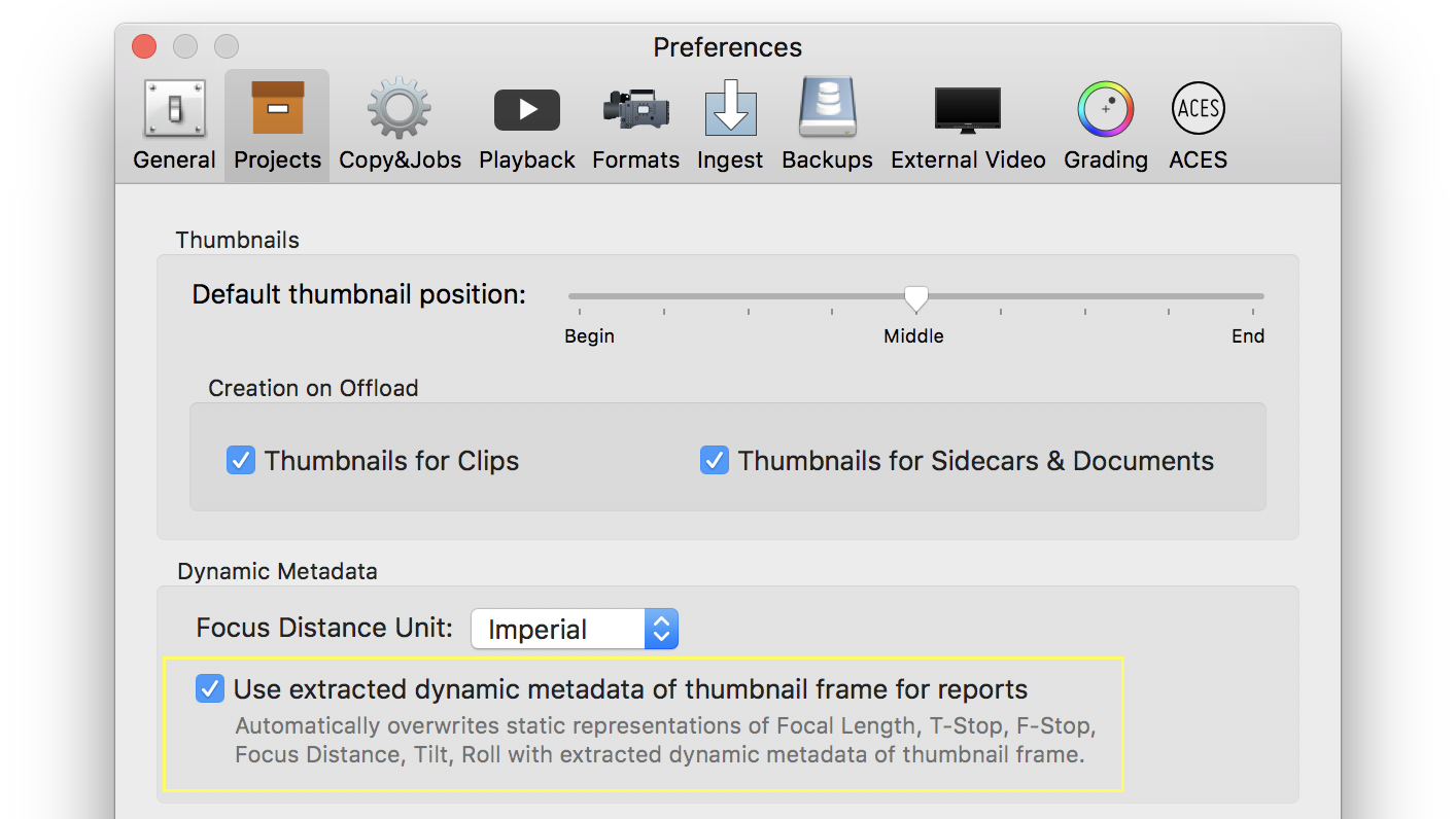Fig. 5: Using the extracted dynamic metadata of the thumbnail frame for reports
